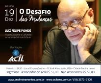 Acil promove palestra com Filósofo Pondé em Leme, no dia 19 de dezembro