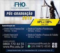 FHO|Uniararas - Concurso de Bolsas de 100% e 50% para Especialização em Direito